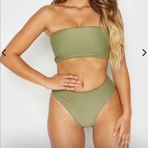 Frankie's bikinis olive Jenna top and bottom